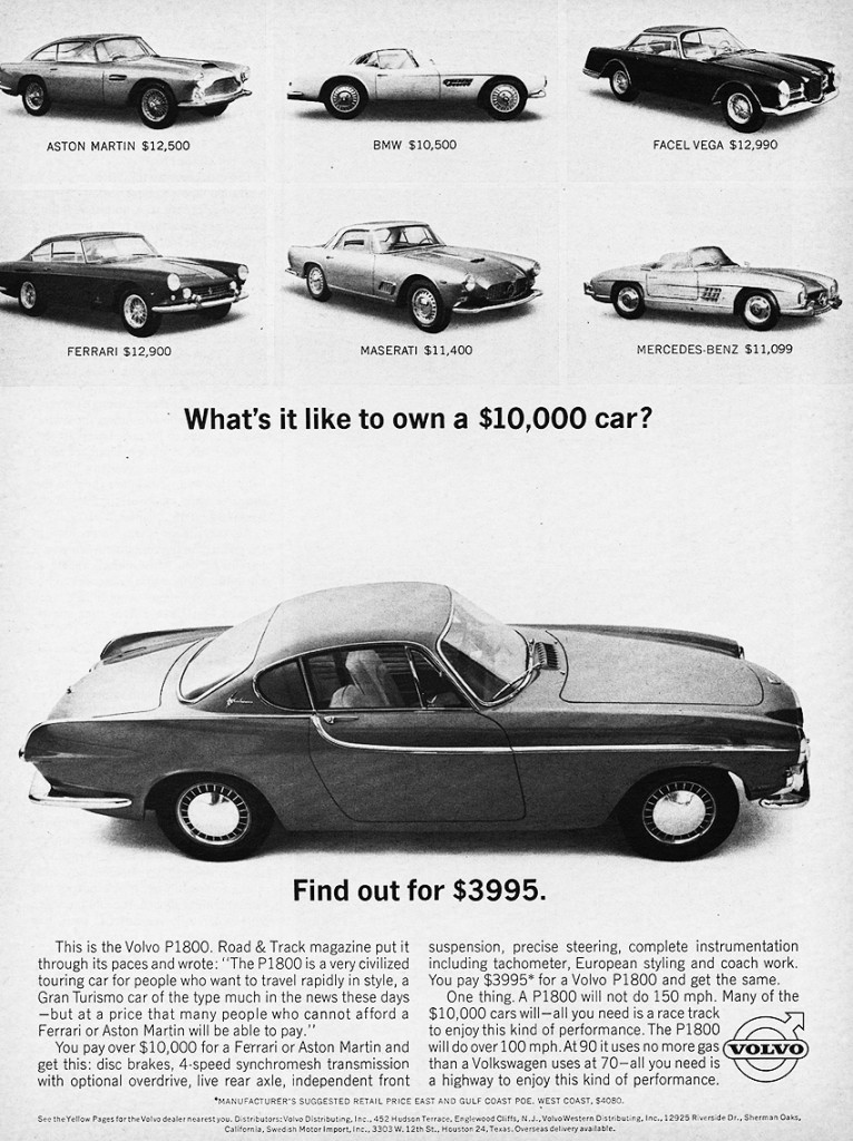 Volvo 1963 P1800 poster