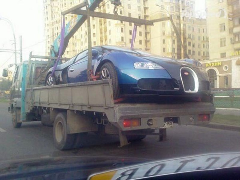 veyron towing