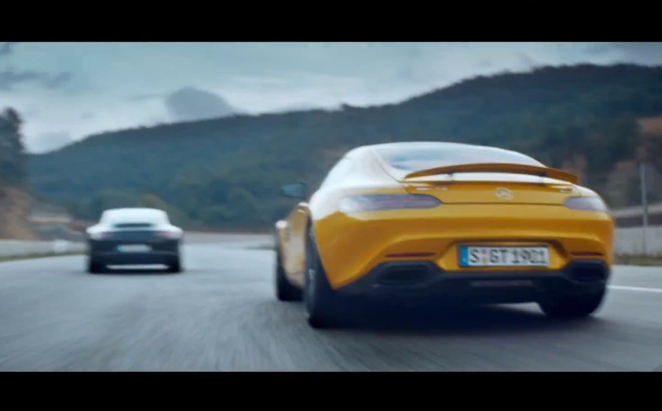 mercedes porsche commercial